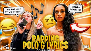 RAPPING POLO G LYRICS IN FRONT OF Crystal 😩 😱 **SHE KICKED ME OUT** | Woah Vicky