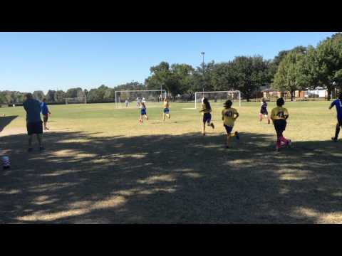 Mia Soccer and Basketball - October 2014