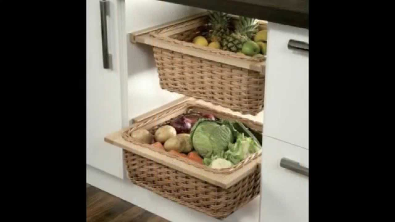 Fruit and vegetable storage ideas - YouTube
