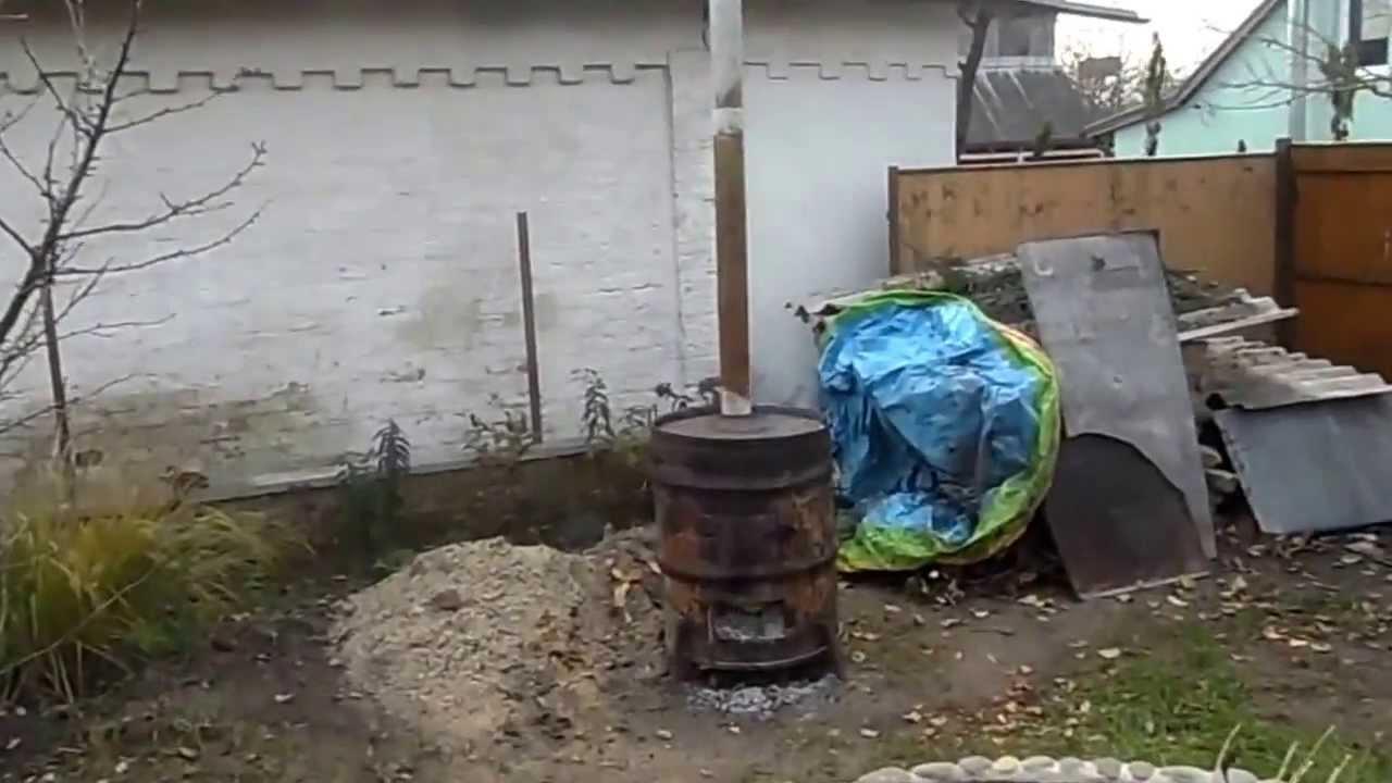 Печь для сжигания мусора на даче своими руками из бочки фото 152