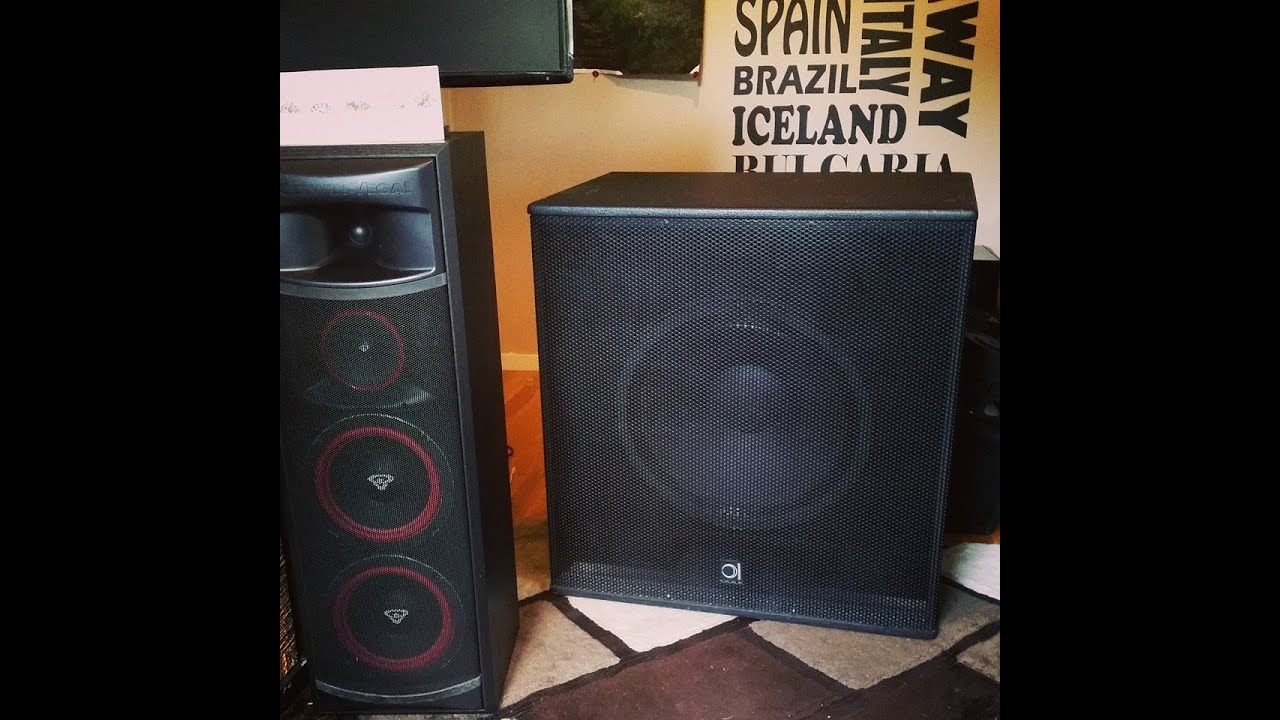 Short demo of the New epic 18 inch turbosound subwoofer