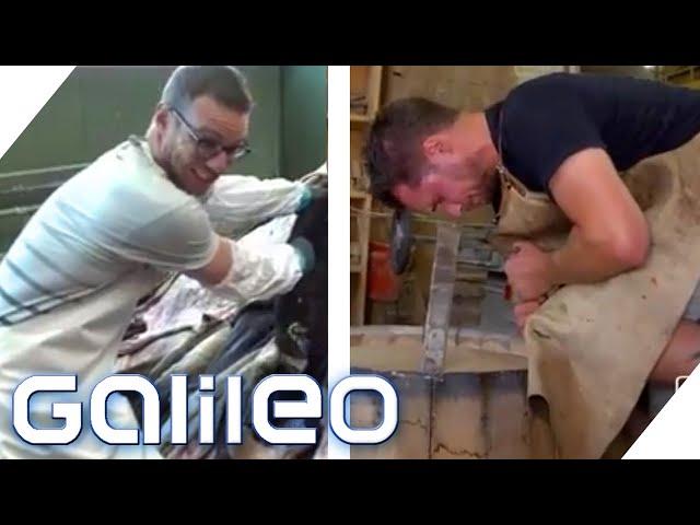 Knochenjob-Challenge: Wer meistert die harten Jobs besser? | Galileo Reporter-Duell | ProSieben