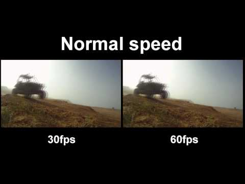GoPro HD Hero 30fps vs  60fps