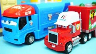 汽車總動員 法國發射車與貨櫃車 玩具 賽車總動員
