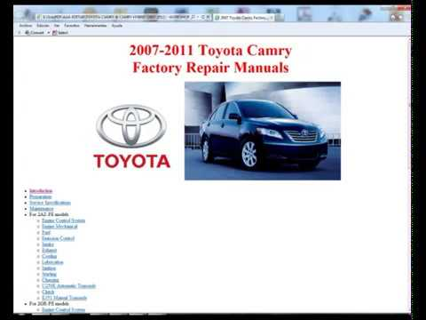 toyota camry and camry hybrid 2007 2011 service manual. Black Bedroom Furniture Sets. Home Design Ideas