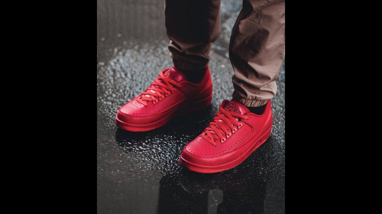air jordan 2 low red on feet
