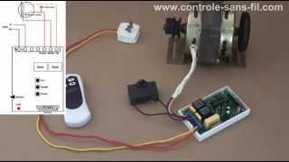un video test de moteur monophasé électrique 220v avec seul un émetteur radio