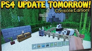 Minecraft PS4: TU82 UPDATE OUT TOMORROW! - PANDAS, CATS, NEW TEXTURES! (PS4 2018 Update)
