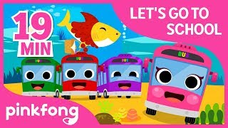 Let's Go to School | Get Ready with Pinkfong | +Compilation | Pinkfong Songs for Children