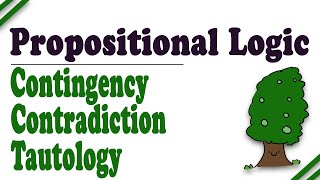 Propositional Logic: Truth Trees, Part 6 (Contradiction, Tautology, Contingency)