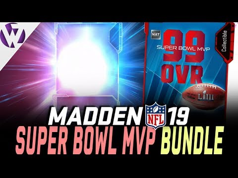 SUPER BOWL MVP BUNDLE! 99 OVERALL!! GHOST PULL! - Madden 19 Pack Opening
