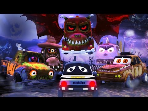 Road Rangers | It's Halloween night not a Road Ranger in sight | scary song for children | Ep #13