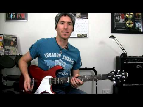 'Decode' by Paramore - Solo Lead Guitar Lesson (easy with tab & backing track)