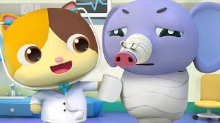 تحميل فيديو تتظاهر ميمي بالطبيبة الصغيرة | كرتون اطفال | رسوم متحركة مضحكة | بيبي باص | BabyBus Arabic