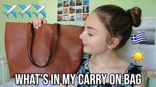 WHAT'S IN MY CARRY ON BAG 2018|Sophia