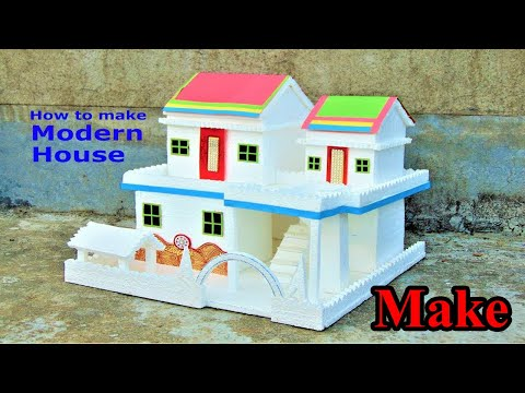 Beautiful Building MAKING | | How To Make A Beautiful Mansion House From Sun-board Sheet