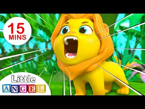 Jungle Song | Lion Roar & Jungle Animals | Kids Songs & Nursery Rhymes by Little Angle