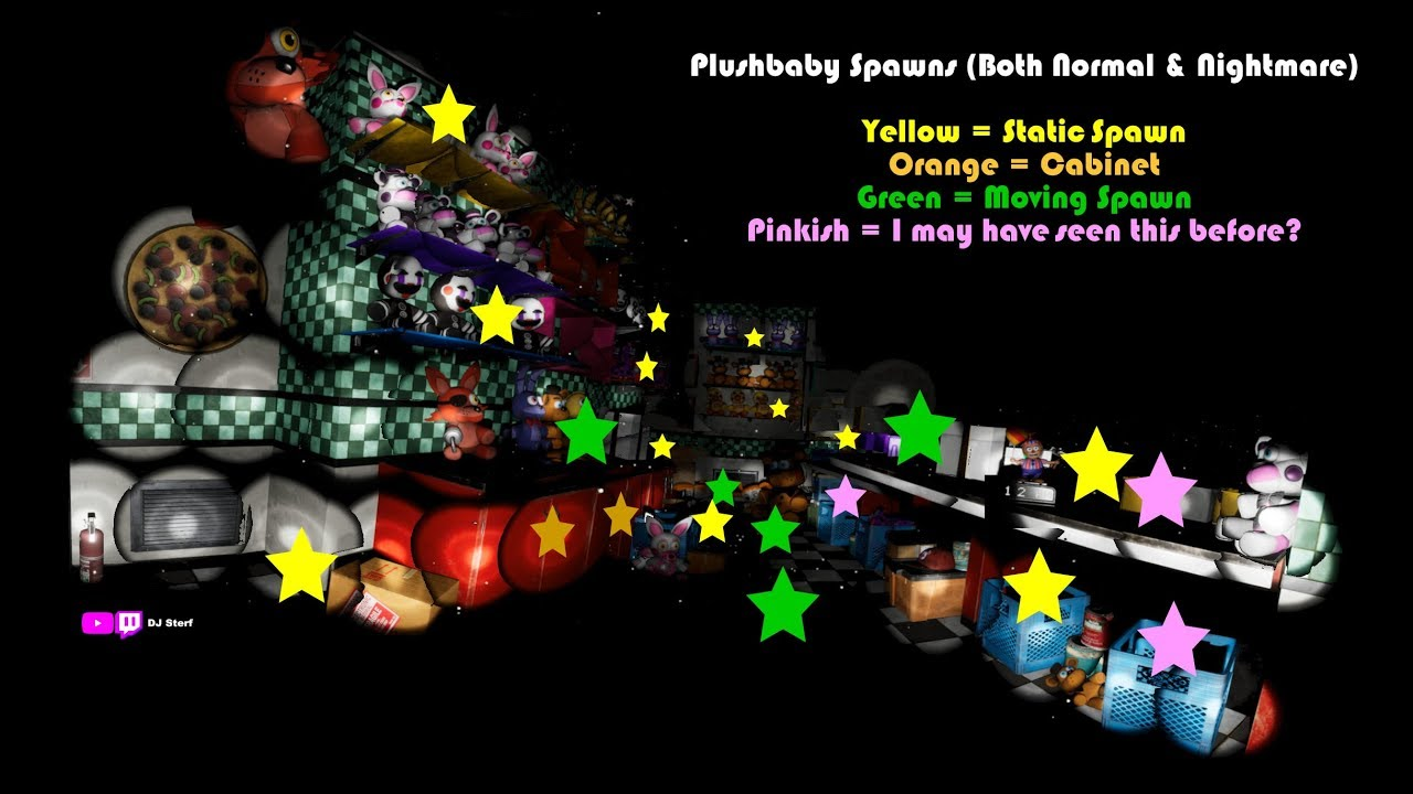 Christmas Help Wanted.Plushbaby Part 2 Spawn Points Normal And Nightmare Strategy Fnaf Vr Help Wanted Pc Steam