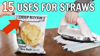 15 Brilliant Uses For Straws | STRAW HACKS