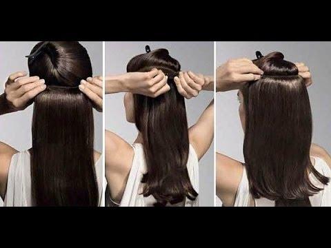 Видео как крепить накладные волосы на заколках
