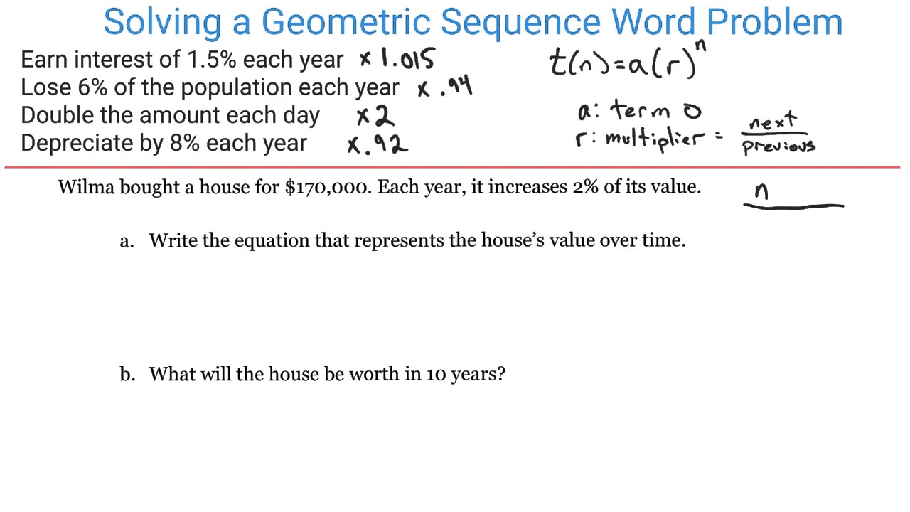 hight resolution of Geometric Sequence (video lessons