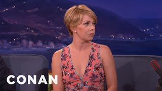 Mary Elizabeth Ellis: Charlie Day Arm-Wrestled For The Right To Hit On Me  - CONAN on TBS