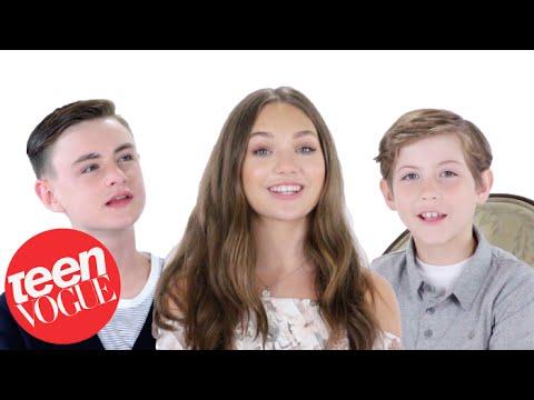 Maddie Ziegler, Jacob Tremblay & Jaeden Lieberher Tell Us Their Favorite Things | Teen Vogue
