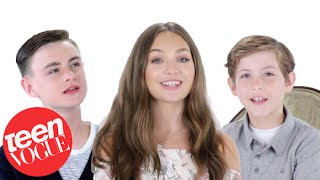 Maddie Ziegler, Jacob Tremblay & Jaeden Lieberher Tell Us Their Favorite Things | Teen Vogue