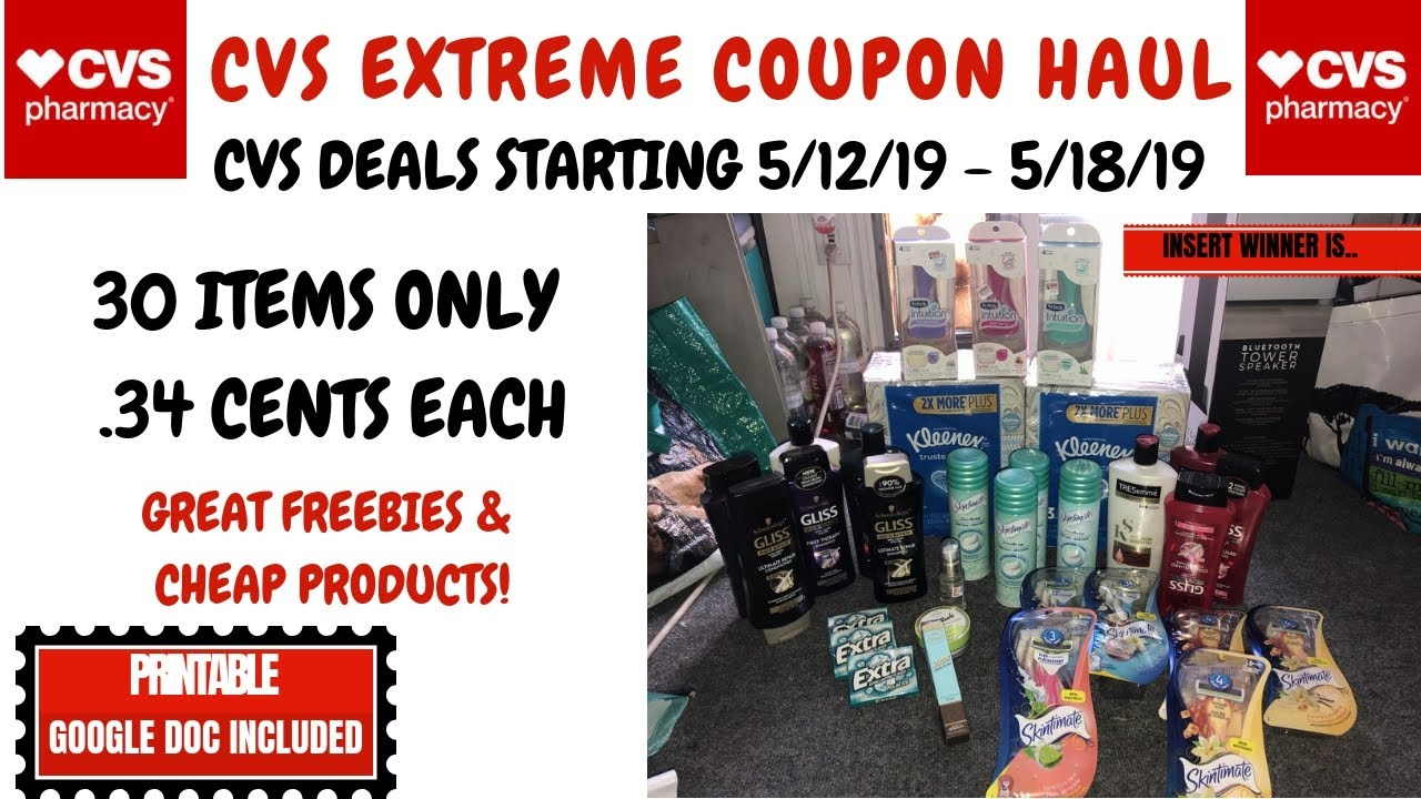 47145ade115 CVS EXTREME COUPON HAUL DEALS STARTING 5/12/19~30 ITEMS ONLY .34 CENTS~TONS  OF FREE & CHEAP DEALS ❤ . Couponing For A Cause