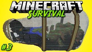 Minecraft | Выживание в Бутылке - 03 - Генератор Булыжника!