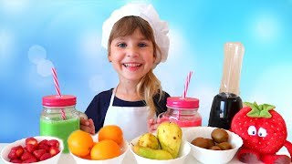 Ариша готовит фруктовый смузи Играем в кафе