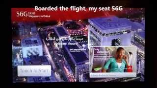 Emirates Airlines A380 Singapore to Dubai Flight EK355 Economy Class 2014