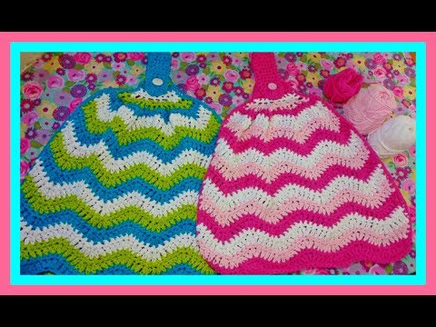 How To Crochet A Chevron Kitchen Towel| HD