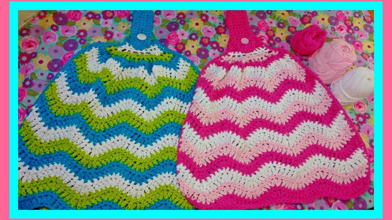 How To Crochet A Chevron Kitchen Towel Hd Youtube