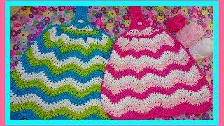 How to Crochet a Chevron Kitchen Towel| HD
