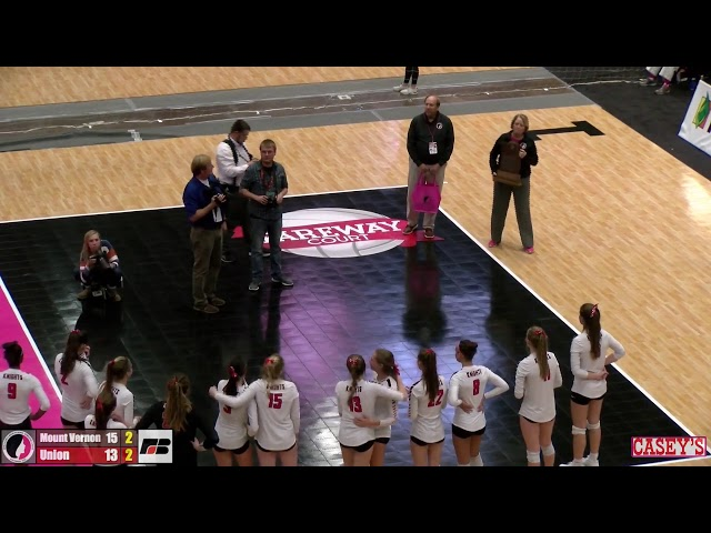 2019 IGHSAU 3A State Volleyball Semifinal: Mount Vernon v Union