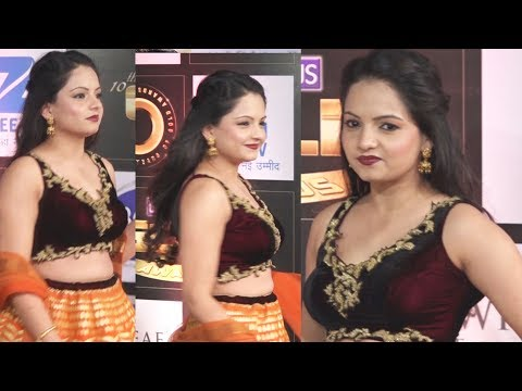 CUTE Giaa Manek At Boroplus 10th Gold Awards 2017 | Zee Tv