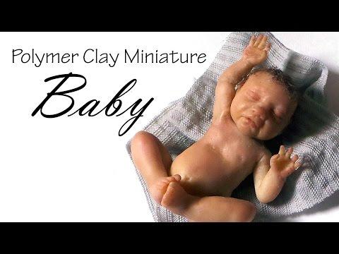 Miniature Baby Tutorial Pt. 1 (Head) - Polymer Clay Tutorial