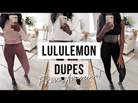 CHEAP AMAZON WORKOUT CLOTHES HAUL! LULULEMON DUPES!