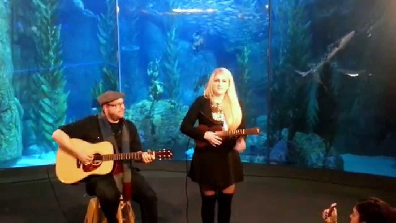 Meghan trainor vevo pop up acoustic at the aquarium youtube for Pop up aquarium