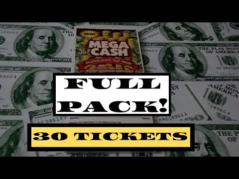 FULL BOOK $20 MEGA CASH!! Illinois Lottery Scratch Off Tickets 👍