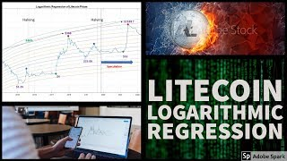 Litecoin price prediction using logarithmic regression