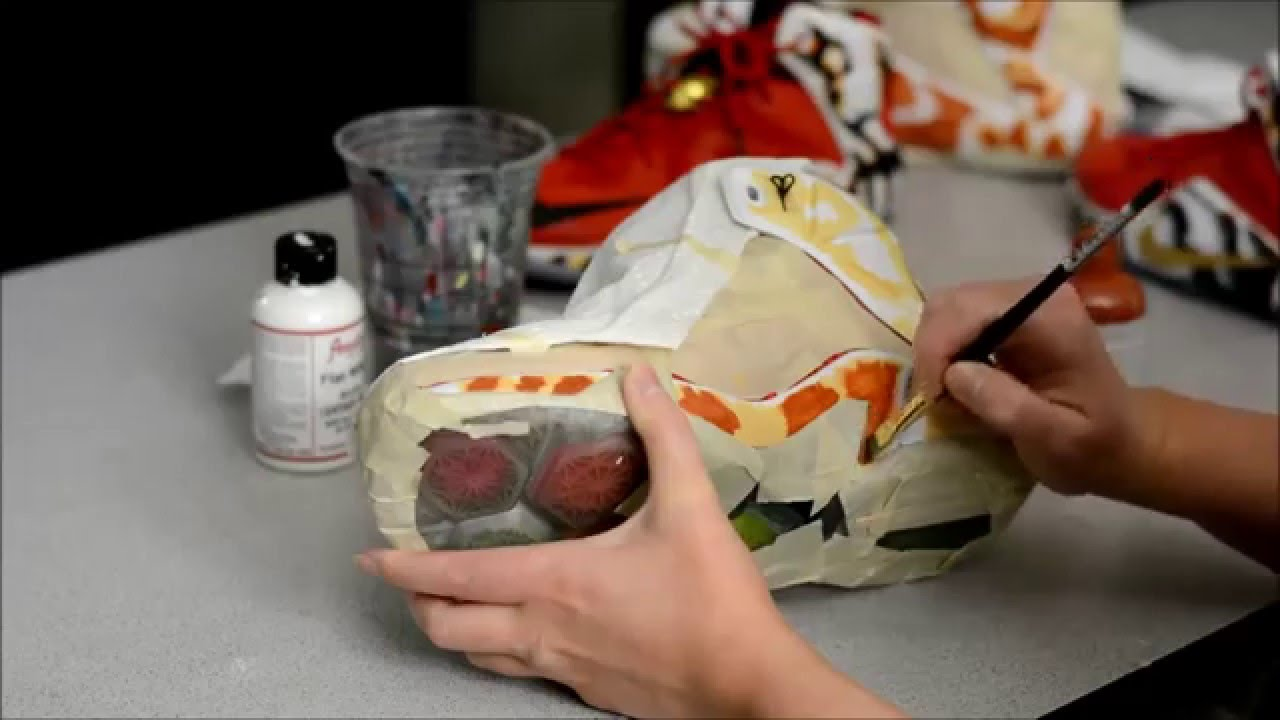 buy popular 1836c 832a3 The Making of my Custom Lebron 12 2K14 Shoes by  KendrasCustoms - YouTube