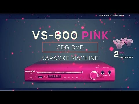 VS-600 Pink Karaoke Machine CDG/CD/DVD Player Overview