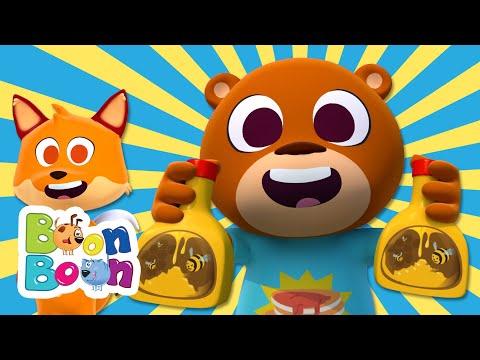 Ursuletul lacom  Cantece educative cu animale pentru copii | BoonBoon – Cantece pentru copii in limba romana