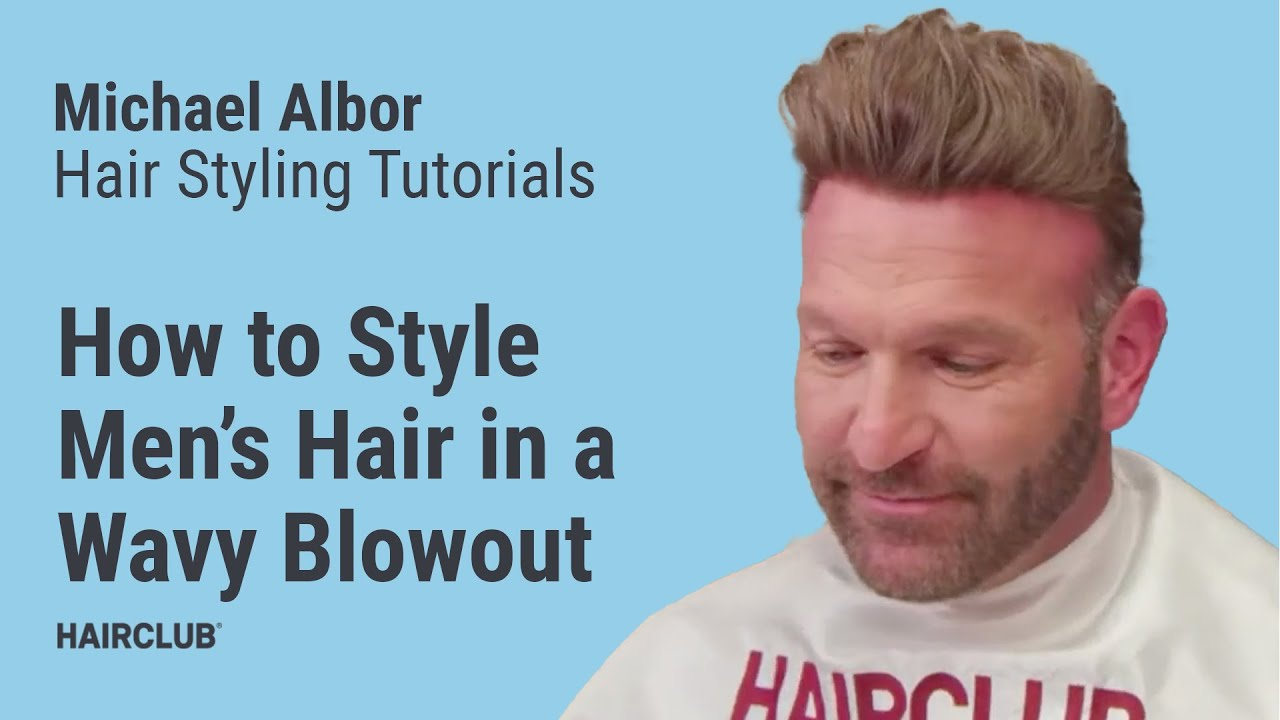 How To Style Men S Hair Wavy Blowout Hairstyle Tutorial By Michael Albor Youtube