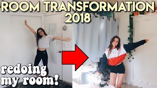 ROOM MAKEOVER 2018 | redoing my room!