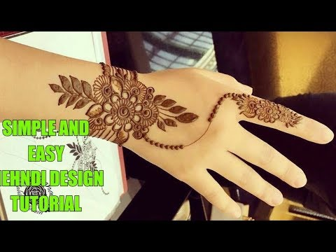 Simple And Easy Mehndi Design Tutorial Easiest Mehndi Design
