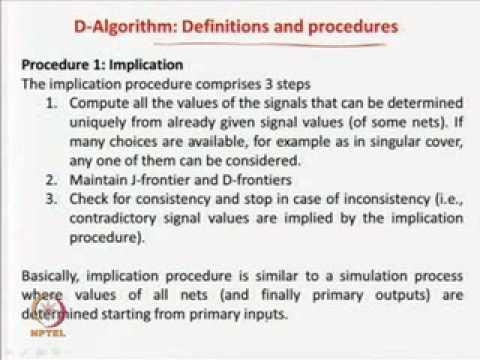 Mod-09 Lec-02 D-Algorithm-1