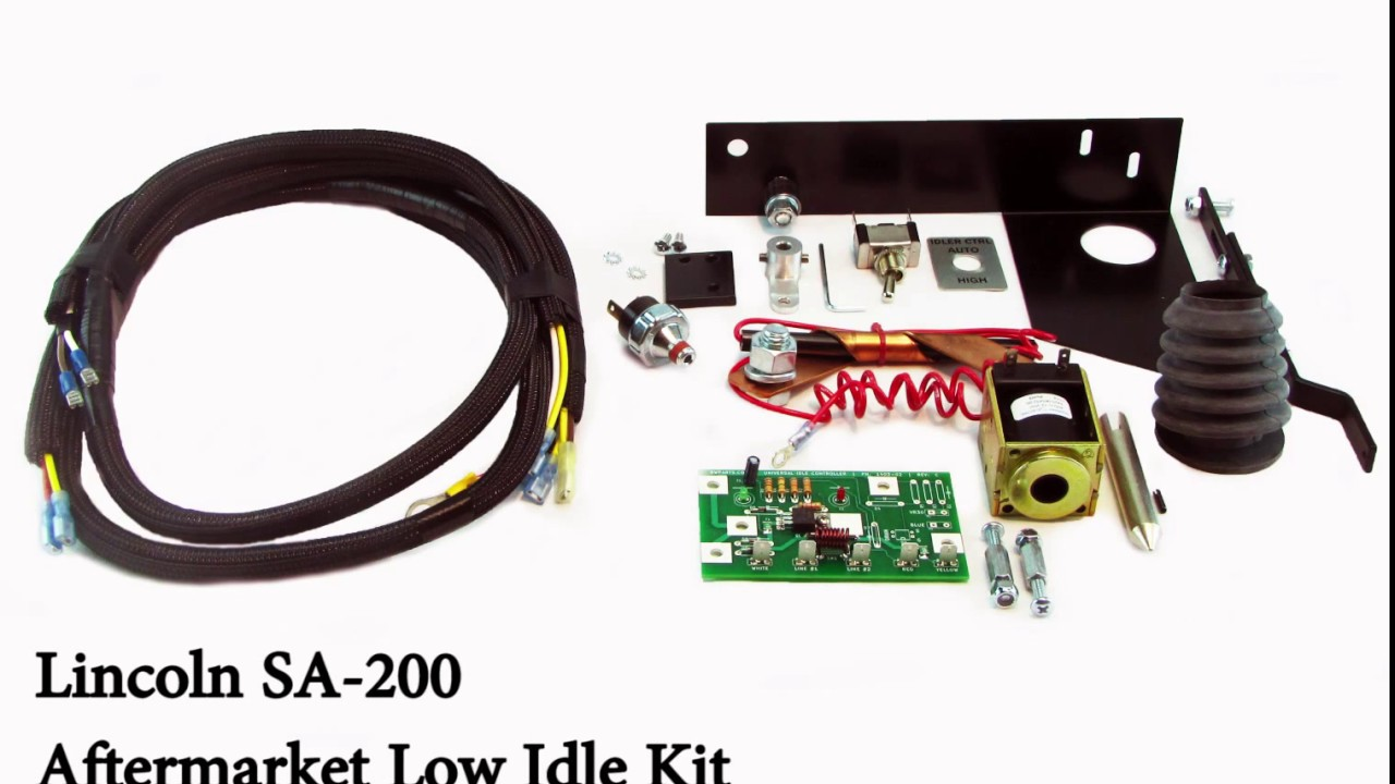 Low Idle Solenoid Control Arm & Linkage Explanation: Lincoln SA-200 Arc  Welder